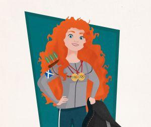 La princesse Disney Merida en athlète de haut niveau
