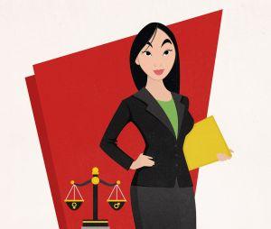Fatiguée des inégalités dans l'armée, Mulan est devenue avocate