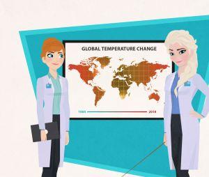 Elsa et Anna de la Reine des neiges sont devenues spécialistes du climat