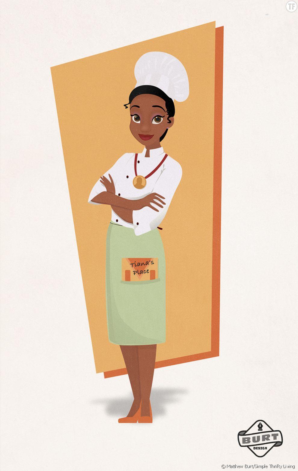 Tiana est devenu une cheffe cuisinière renommée et récompensée