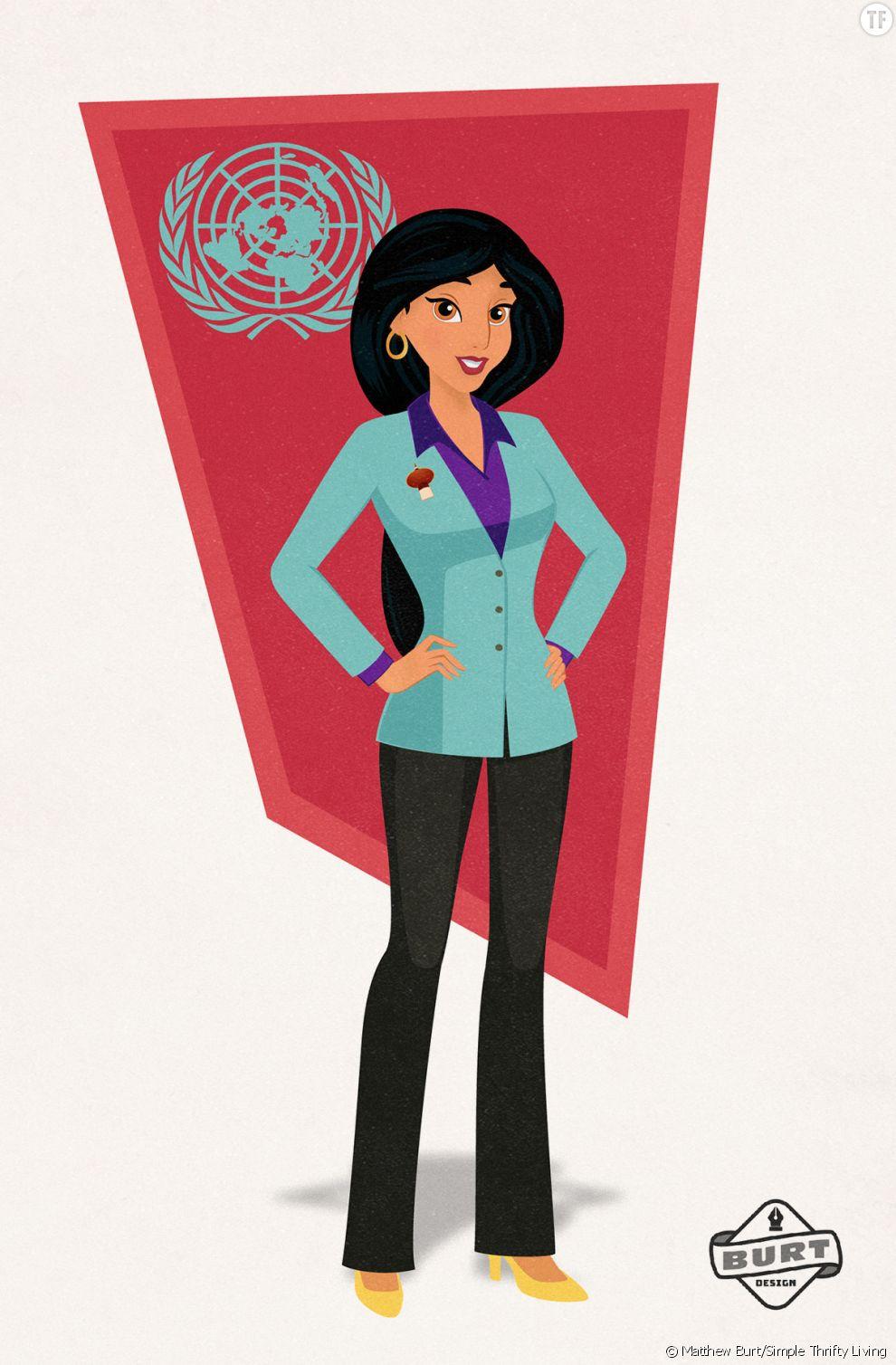 Jasmine est devenu ambassadrice à l'ONU pour son pays d'Agrabah