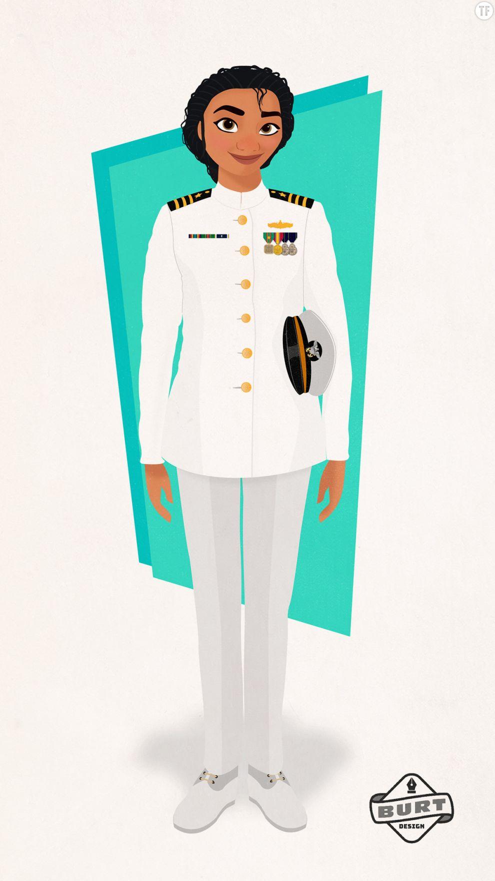 Moana du film  Vaiana  est devenue capitaine dans la marine