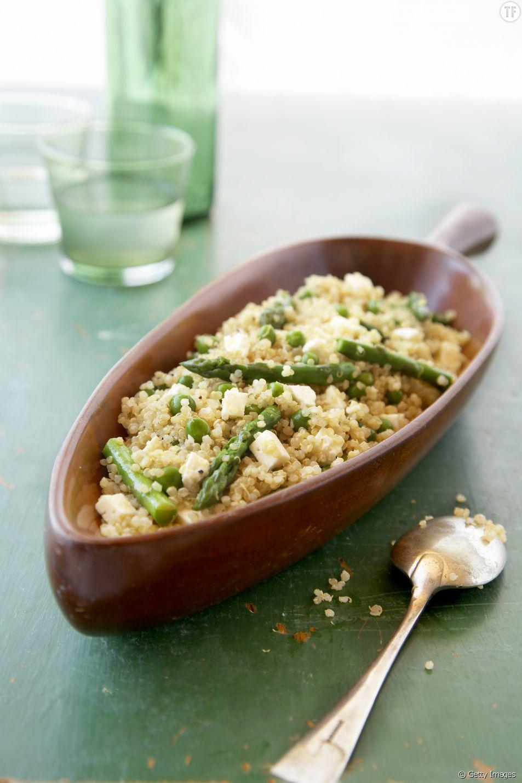 La délicieuse recette du quinotto au poulet et aux asperges vertes