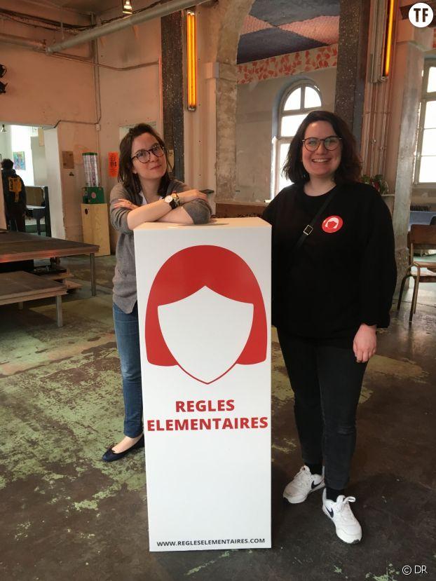 Tara Heuzé-S et Laurie Autret, respectivement présidente et secrétaire générale de l'association Règles Élémentaires, aux Grands Voisins (Paris, 14e).