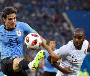Edinson Cavani lors du match Uruguay-Portugal de la Coupe du Monde 2018