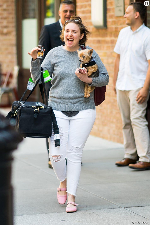 L'actrice Lena Dunham à New York
