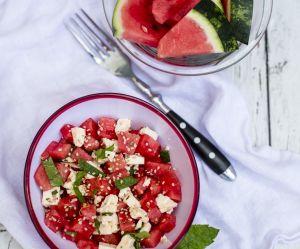 La recette de la salade de pastèque et de radis