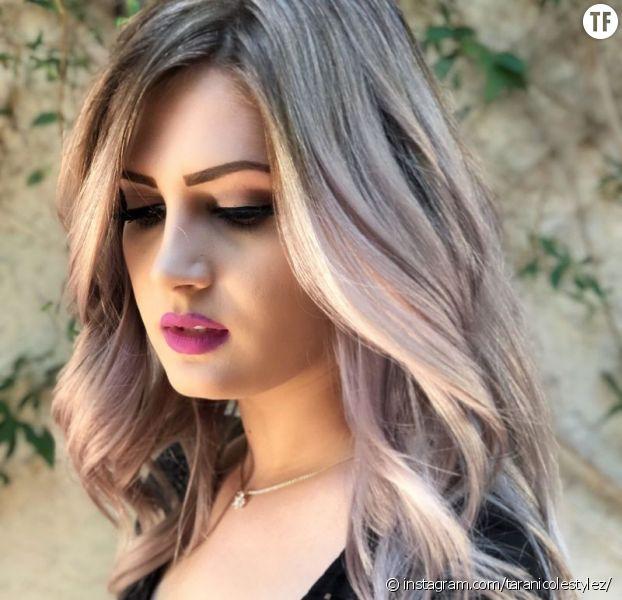 Mauve Champagne : la nouvelle coloration tendance pour les blondes