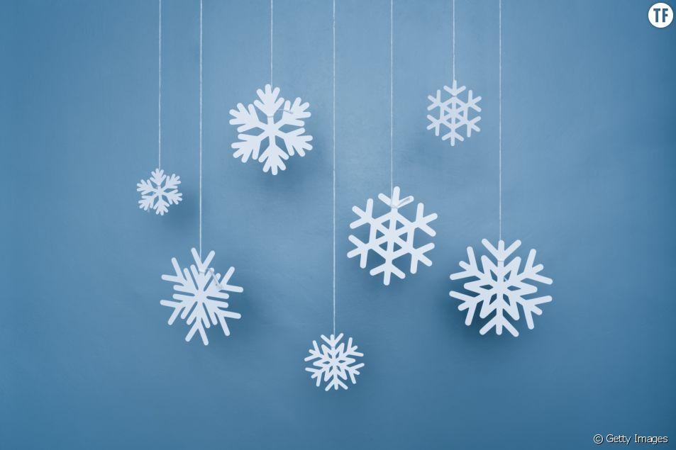 Flocon de neige pour décorer le sapin de Noël