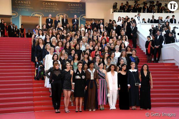 Montée des marches de 82 femmes au festival de Cannes