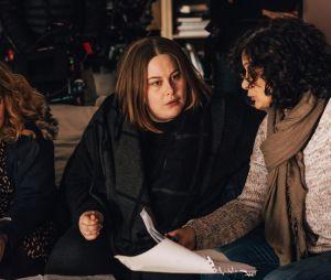 """Juliette Katz et la réalisatrice Murielle Magellan sur le tournage de """"Moi, Grosse"""""""