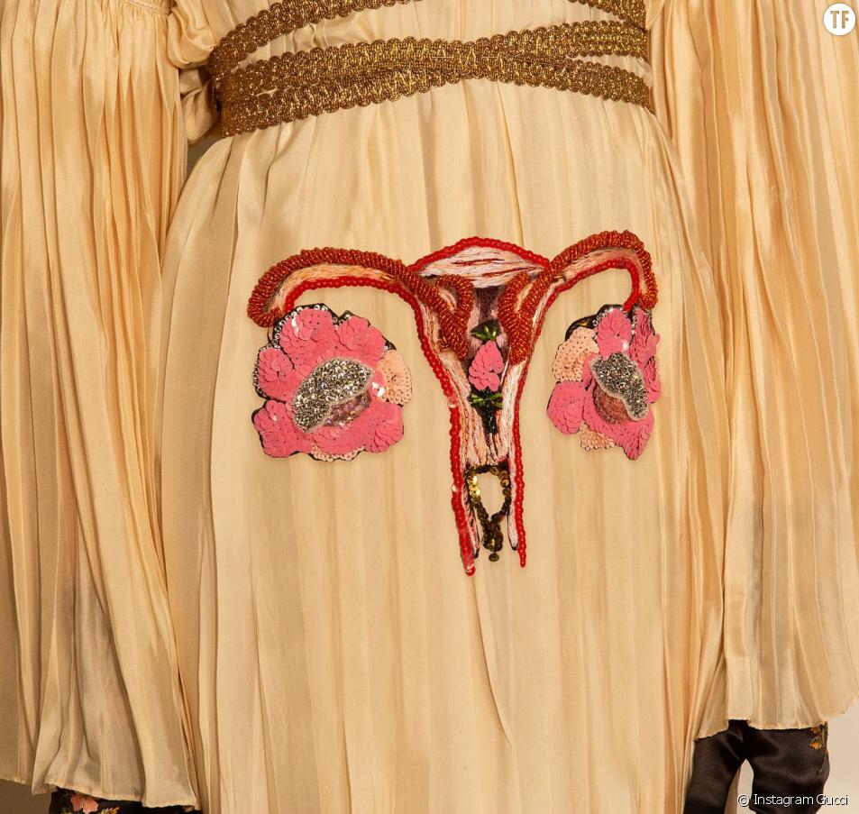 La robe utérus de Gucci au défilé Croisière