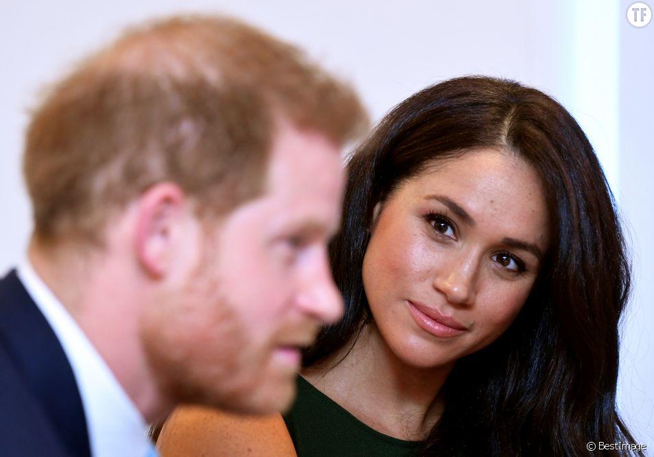 Meghan Markle et le prince Harry lors de la soirée des WellChild Awards à l'hôtel Royal Lancaster à Londres le 15 octobre 2019.