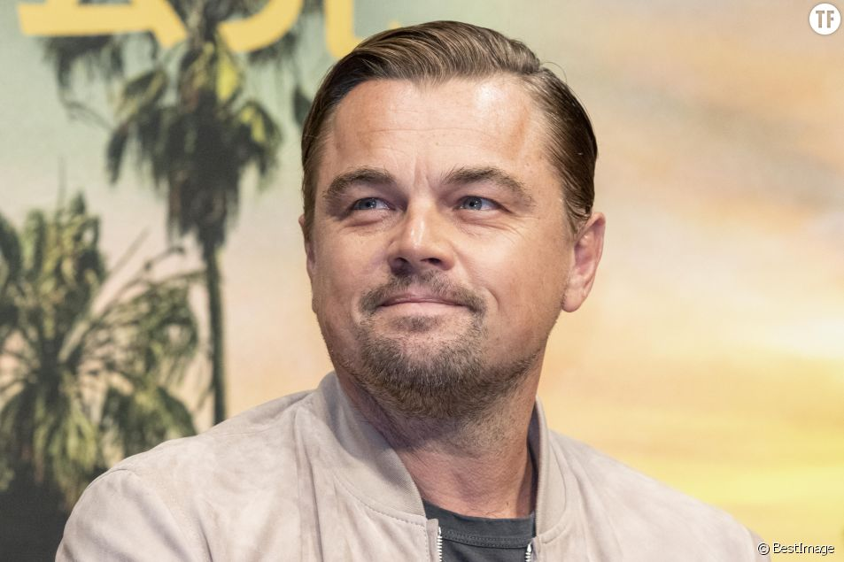 Leonardo DiCaprio lors de la conférence de presse du film Once Upon a Time In Hollywood dans le quartier de downtown à Tokyo au Japon, le 25 août 2019.