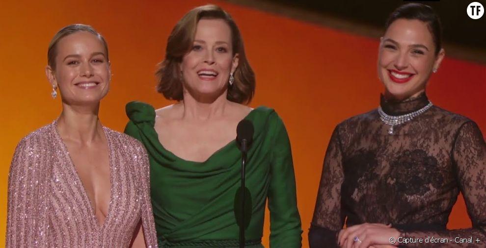 Sigourney Weaver, Gal Gadot et Brie Larson, les wonder women d'Hollywood.