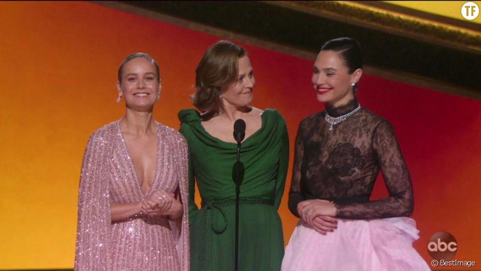 Brie Larson, Sigourney Weaver et Gal Gadot aux Oscars 2020