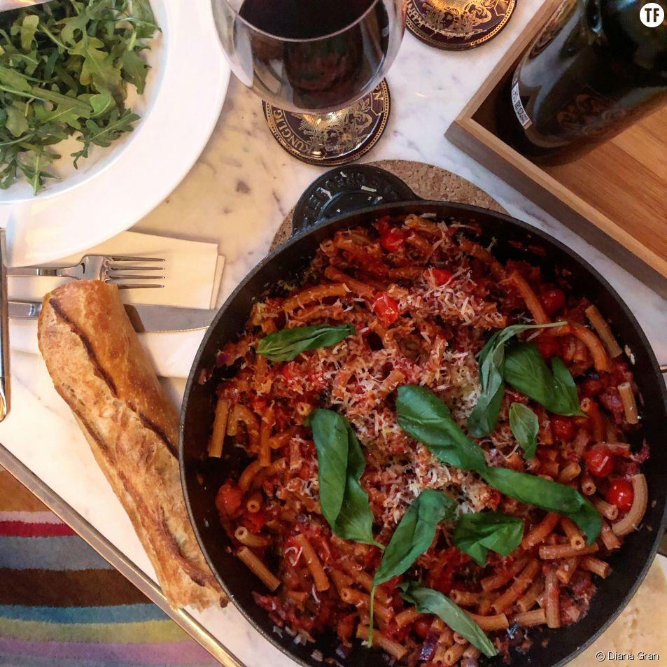 Recette de pâtes aubergine et parmesan