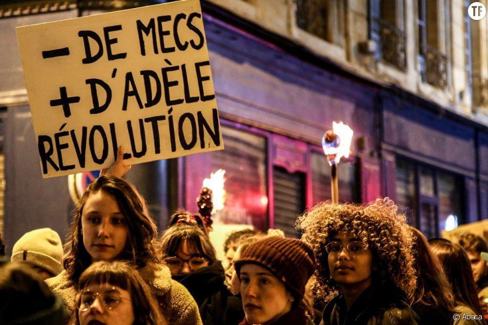 Une marche de nuit du 8 mars 2020 lors de la journée internationale des droits des femmes à Bordeaux.
