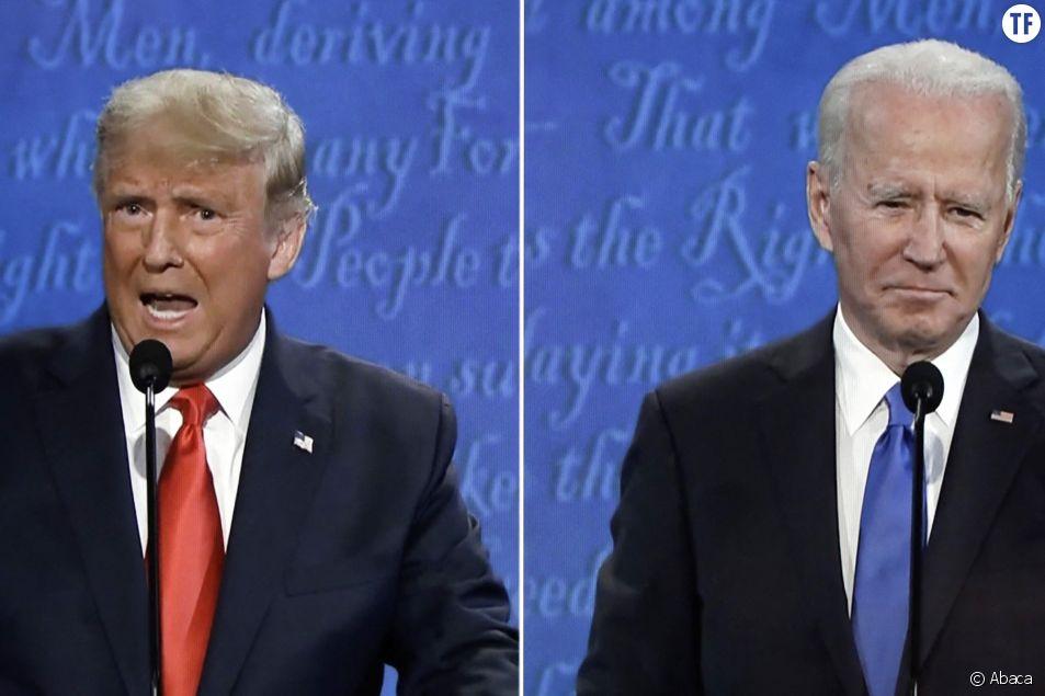Donald Trump et Joe Biden lors du débat télévisé le 22 octobre 2020
