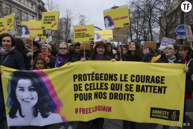 Le 8 mars 2020, nombreuses militantes se rassemblent pour demander sa libération.