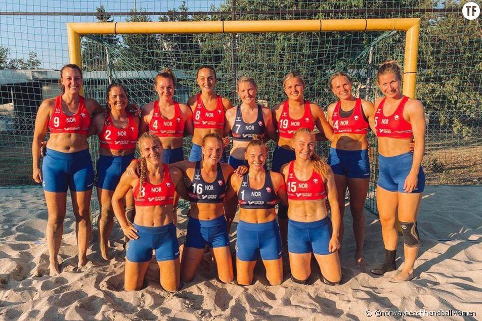 L'équipe de beach handball norvégienne sanctionnée pour avoir porté un short au lieu d'un bikini