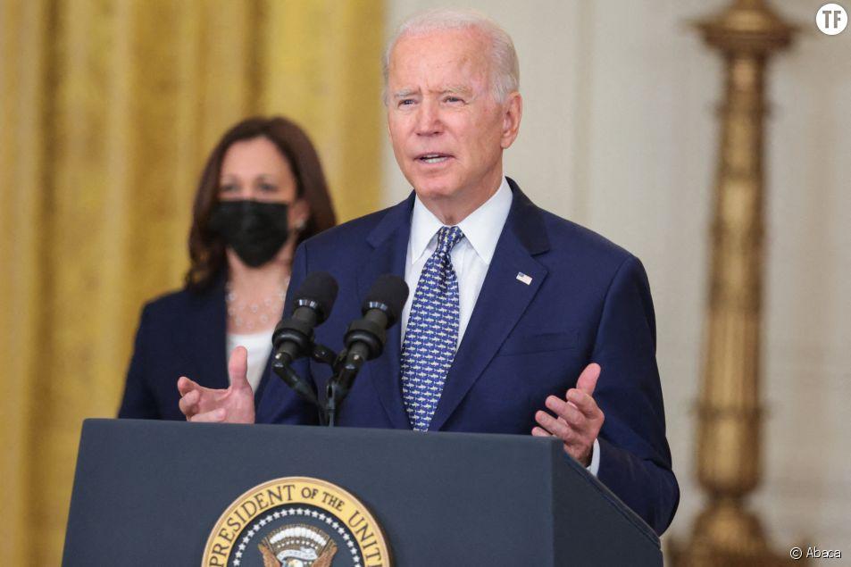 La vice-présidente Kamala Harris et le président Joe Biden le 10 août 2021 à la Maison Blanche