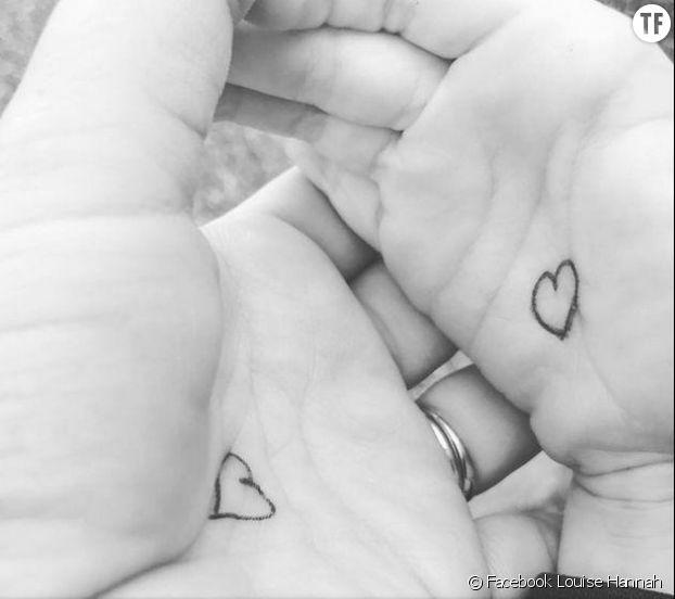 Des coeurs sur les mains pour apaiser la séparation