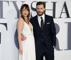 "Dakota Johnson et Jamie Dornan, alias Anastasia Steele et Christian Grey dans ""50 Shades of Grey"""