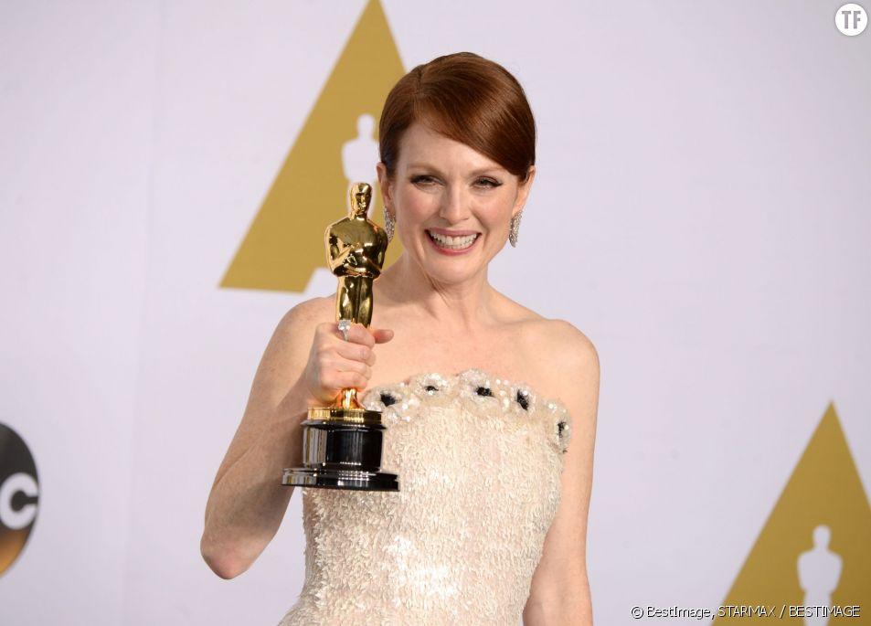 Julianne Moore lors de la dernière soirée des Oscars