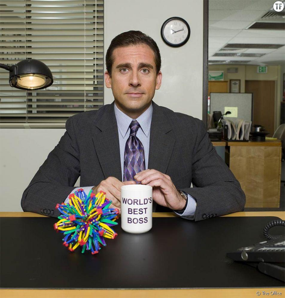 """Steve Carell dans la série """"The office"""""""