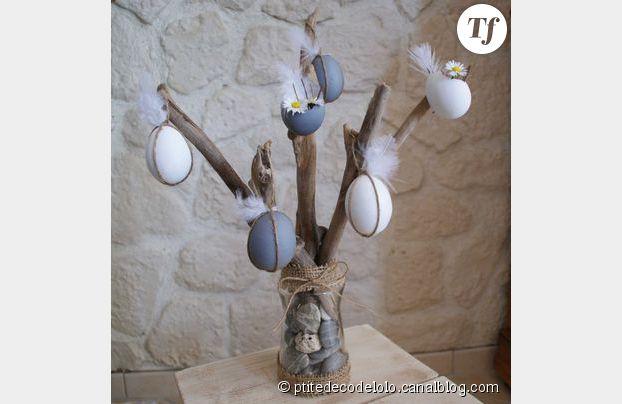 Un arbre de Pâques tout en récup.