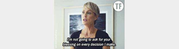"Claire Underwood dans la série ""House of cards"""