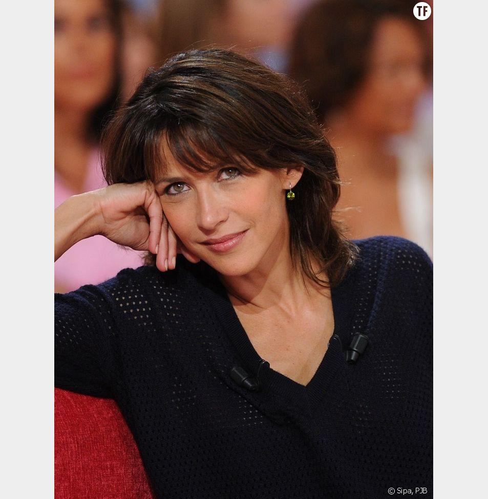 Sophie Marceau sur le plateau de Vivement Dimanche en septembre 2014