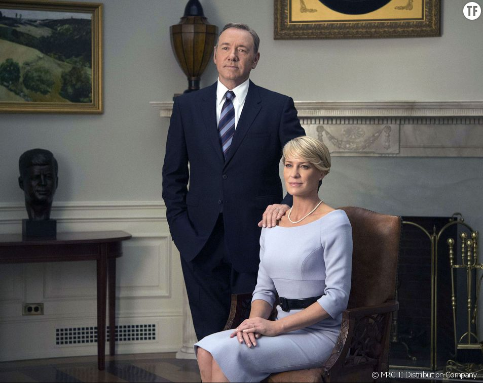 Frank Underwood (Kevin Spacy) et Claire Underwood (Robin Wright)