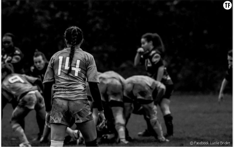 Lucile Bridet en match avec le Stade Français féminin.