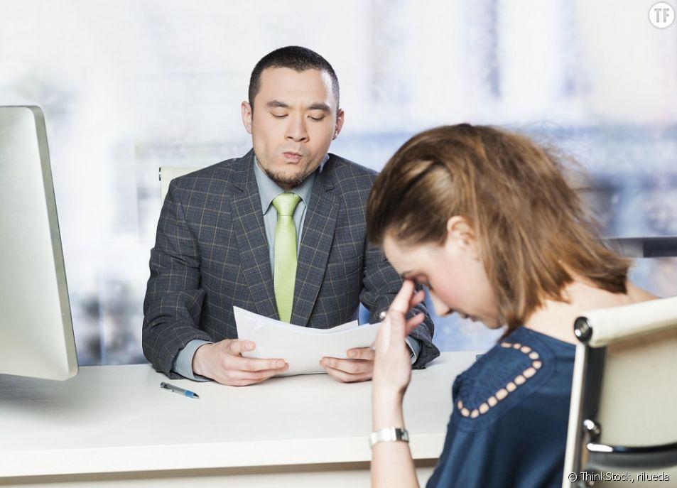 Même si c'est stressant, il faut prendre garde à son comportement lors d'un entretien