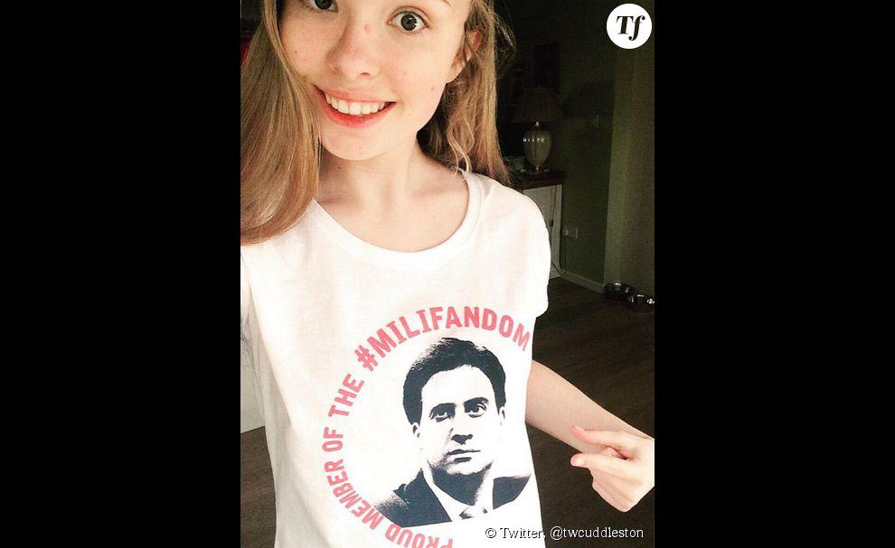 A l'instar d'un Jacques Chirac, Ed Miliband a lui aussi son visage sur un t-shirt. Seule différence : il est porté par des adolescentes, pas par des Hipsters.