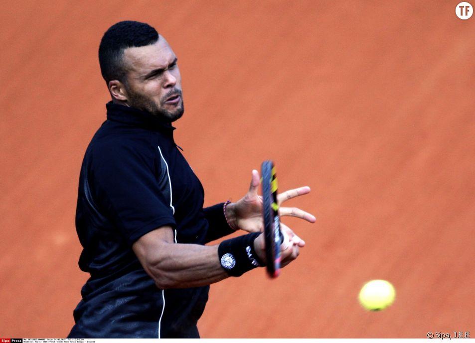 Jo-Wilfried Tsonga dimanche 24 mai à Roland Garros.