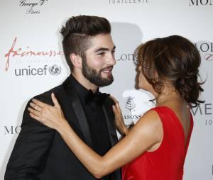 Kendji Girac et Eva Longoria. Dîner du Global Gift Gala.
