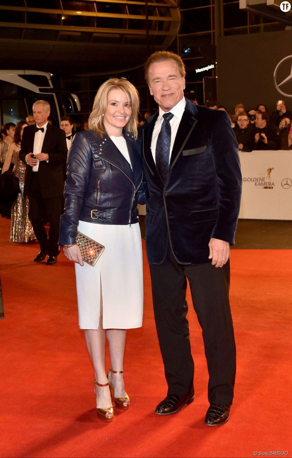 Arnold Schwarzenegger et sa compagne Heather Milligan en février dernier