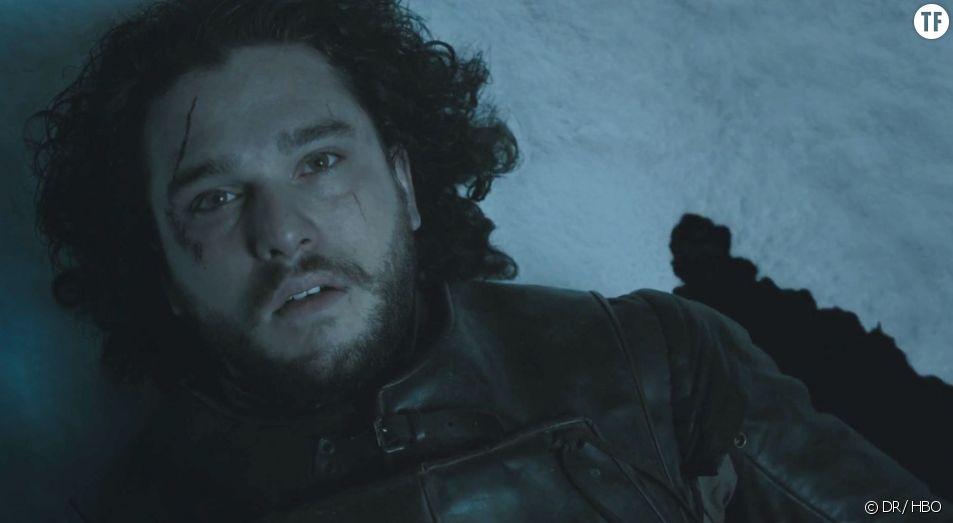 "Jon Snow dans la scène finale de ""Game of Thrones"""