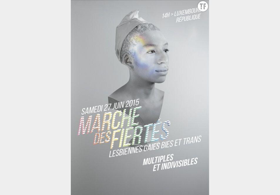 L'affiche officielle de la Gay Pride de Paris prévue le 27 juin 2015.