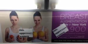 """""""Ceci opprime les femmes"""" : des stickers pour customiser les pubs sexistes du métro"""