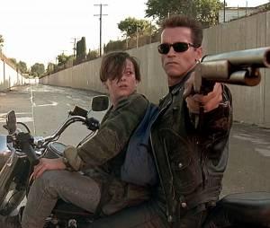 Arnold Schwarzenegger et Edward Furlong dans Terminator 2