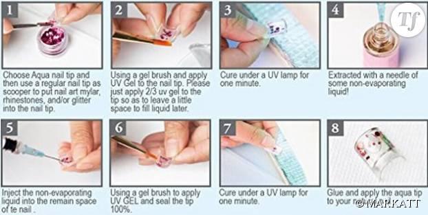 Voici les étapes pas si simples à respecter pour avoir des ongles aux faux airs d'aquarium...