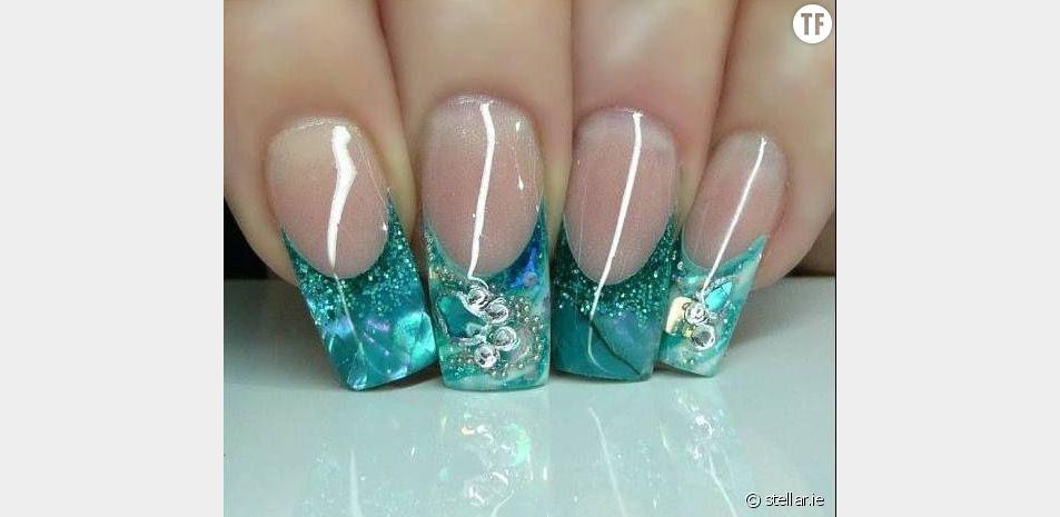 La tendance nail art aquarium
