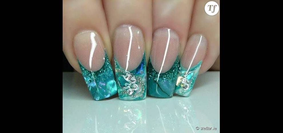 Nail art aquarium