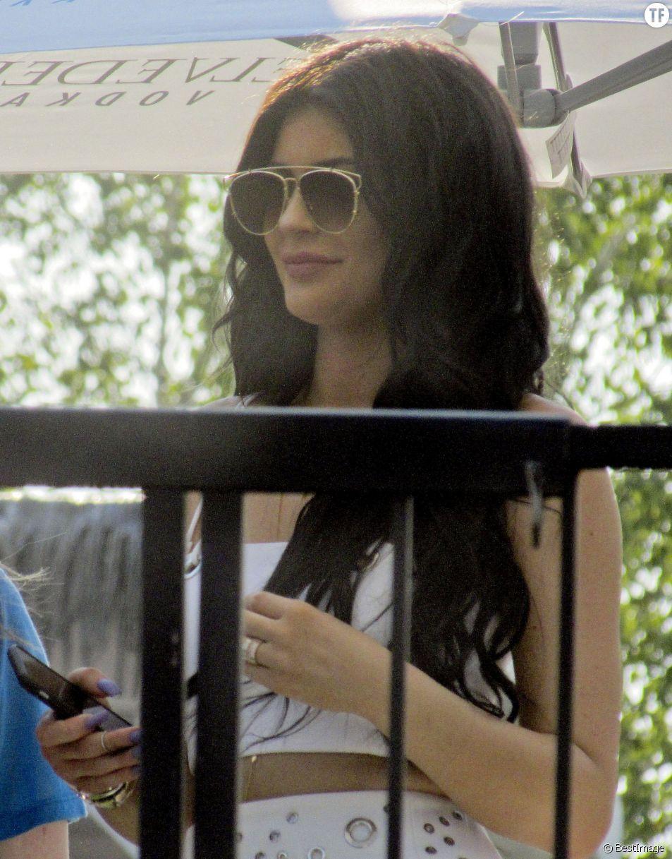 Kylie Jenner fête son 18ème anniversaire au Beachclub à Montreal. Le 16 août 2015