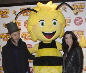 """Jenifer Bartoli et Christophe Maé Avant-première du film """" Maya l'abeille """" à l'UGC Ciné Cité Bercy à Paris"""
