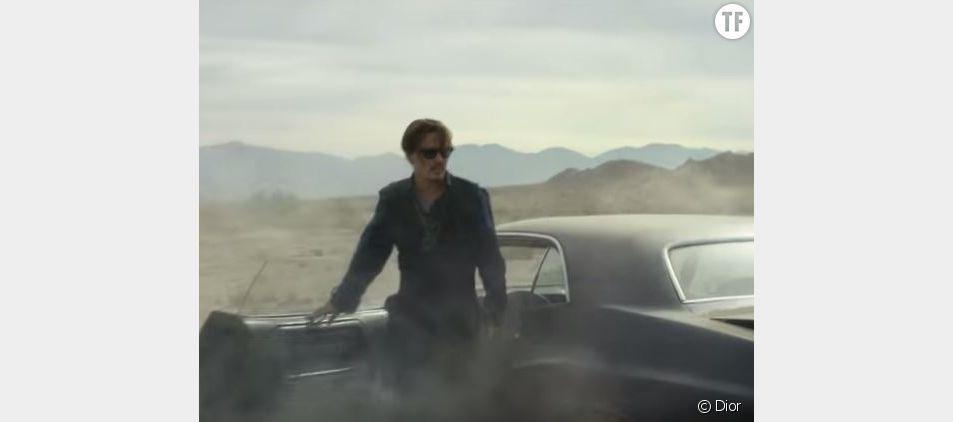 Johnny Depp, sauvage dans la publicité Dior